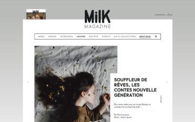 Article dans Milk magazine
